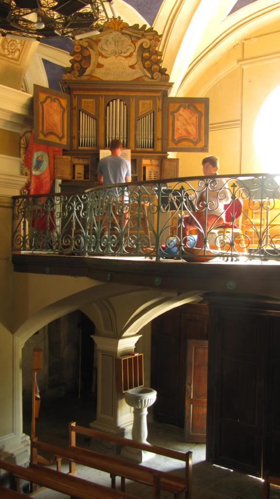 """Répétition ensemble """"La Rêveuse"""" Damien Colcomb à l'orgue"""